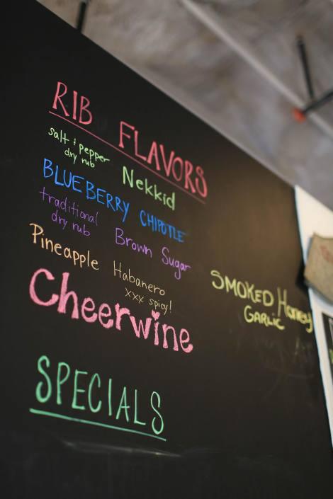 Our Ribs Flavors Menu